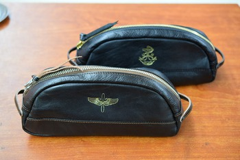 The REAL McCOY'S Horsehide Pouch