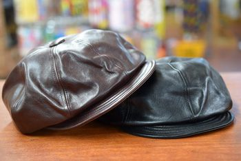 SPEIER'S Horsehide Leather Casquette & Army Cap