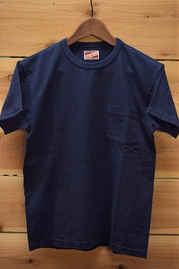 The REAL McCOY'S Indigo T-shirt with a Pocket
