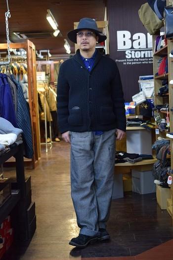 JELADO Sashiko Net Maker's Trousers