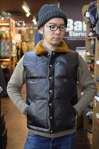 The REAL McCOY'S Horsehide Down Vest