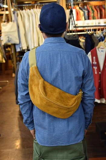 Dapper's Water-Repellent Leather Waist Bag