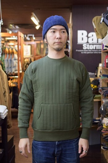 The REAL McCOY'S JM Quilted Sweat Shirt