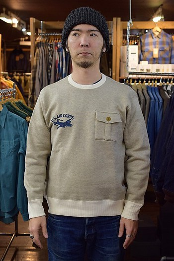 The REAL McCOY'S Military Pocket Sweat Shirt