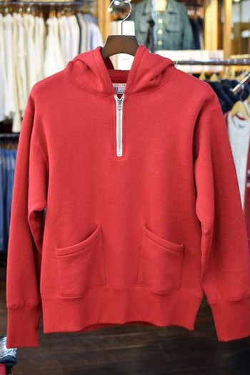 The REAL McCOY'S Hooded 1/4 Zip Sweat Shirt