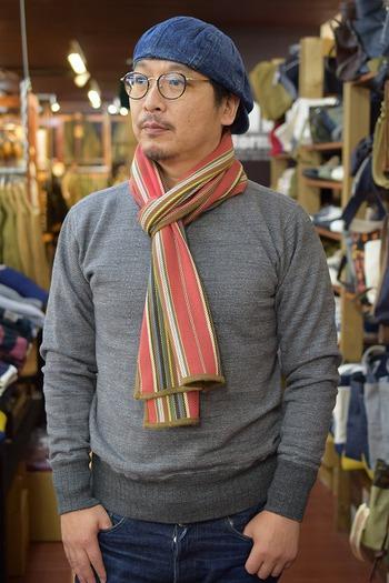 Nigel Cabourn Heavy Flannel Stripe Stole