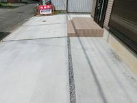 外構工事、駐車場に土間コンクリート