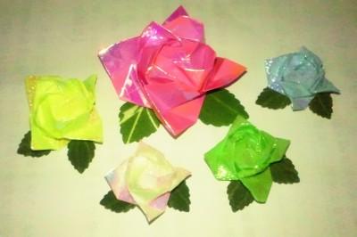 クリスマス 折り紙 折り紙バラの葉折り方 : naosuke.eshizuoka.jp