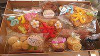 すずとら焼き菓子&雷神堂静岡店メッセージ手焼きせんべい@人宿町離宮