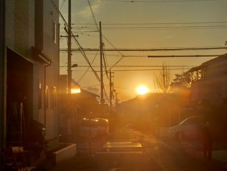 夕日はやわらかい明るさですね