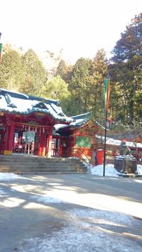 雪の箱根神社