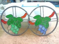 ブドウのステンドグラス